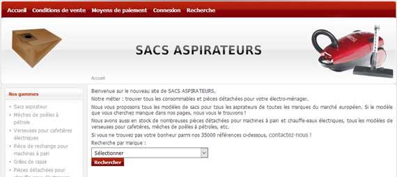 Vignette pour l'article sur le site Sac Aspi