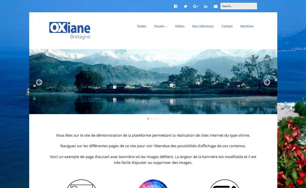 Page d'accueil du site de démonstration Commerces