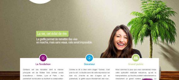 Page d'accueil du site de la Fondation Centaure