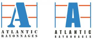 3eme étape de l'étude du logo pour Atlantic Rayonnages