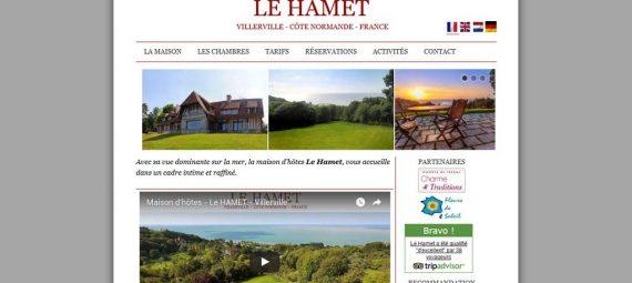 Site Internet de la maison d'hôtes du Hamet