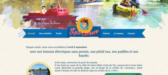 Bandeau d'accueil du site Les p'tits mousses