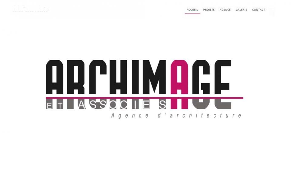 Page d'accueil du site Archimage et associées