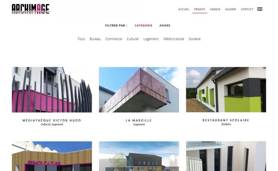 Page des projets du cabinet d'architectes Archimage et associées