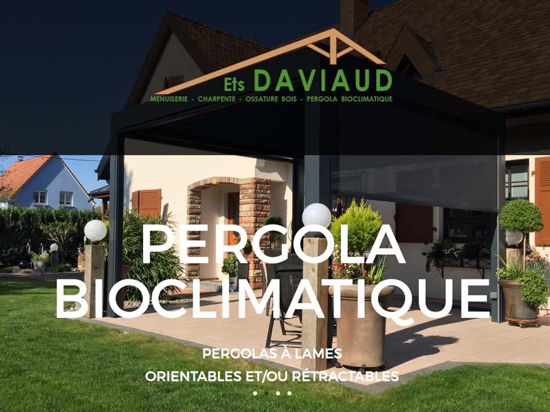Page d'accueil du ste Internet de Menuiserie Charpente Daviaud