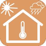 Icône représentant l'isolation thermique