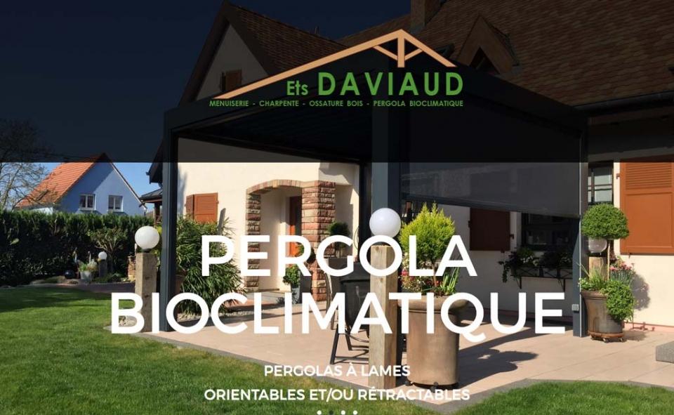 Page d'accueil de la Menuiserie Charpente Daviaud