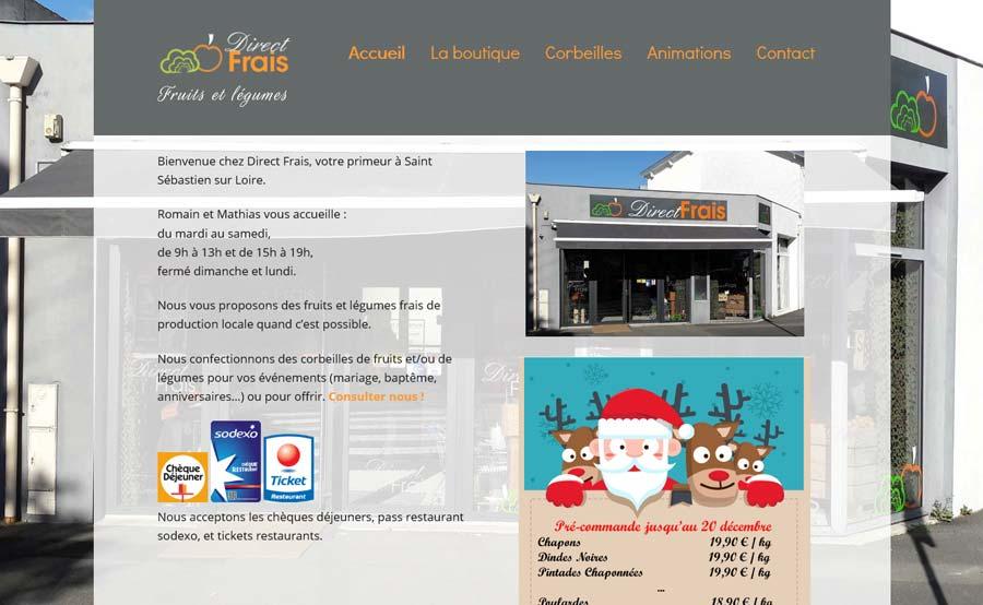 Page d'accueil Direct Frais