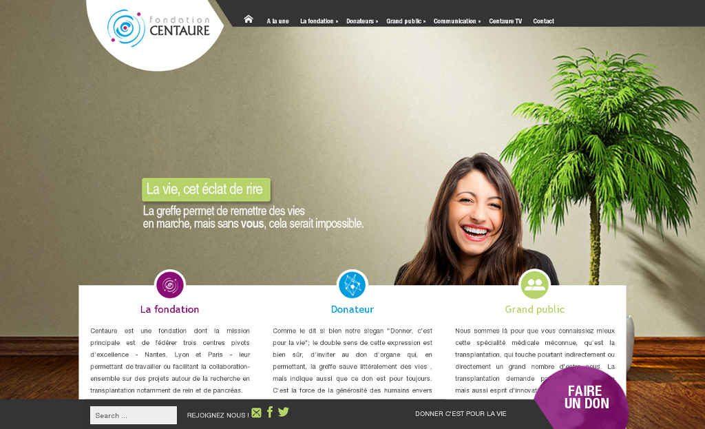 Site de la fondation Centaure